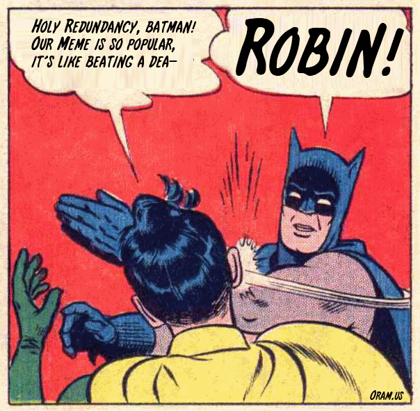 Batman and Robin ubiquitous slap meme